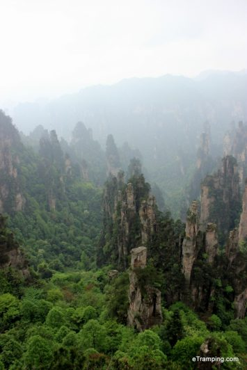 Overview of ZhangJiaJie National Forest Park