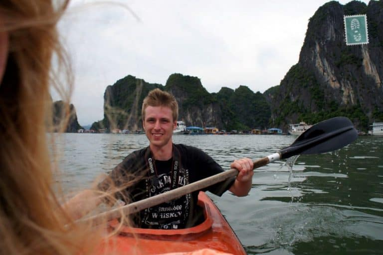 Kayaking in Ha Long, Vietnam, Summer 2012