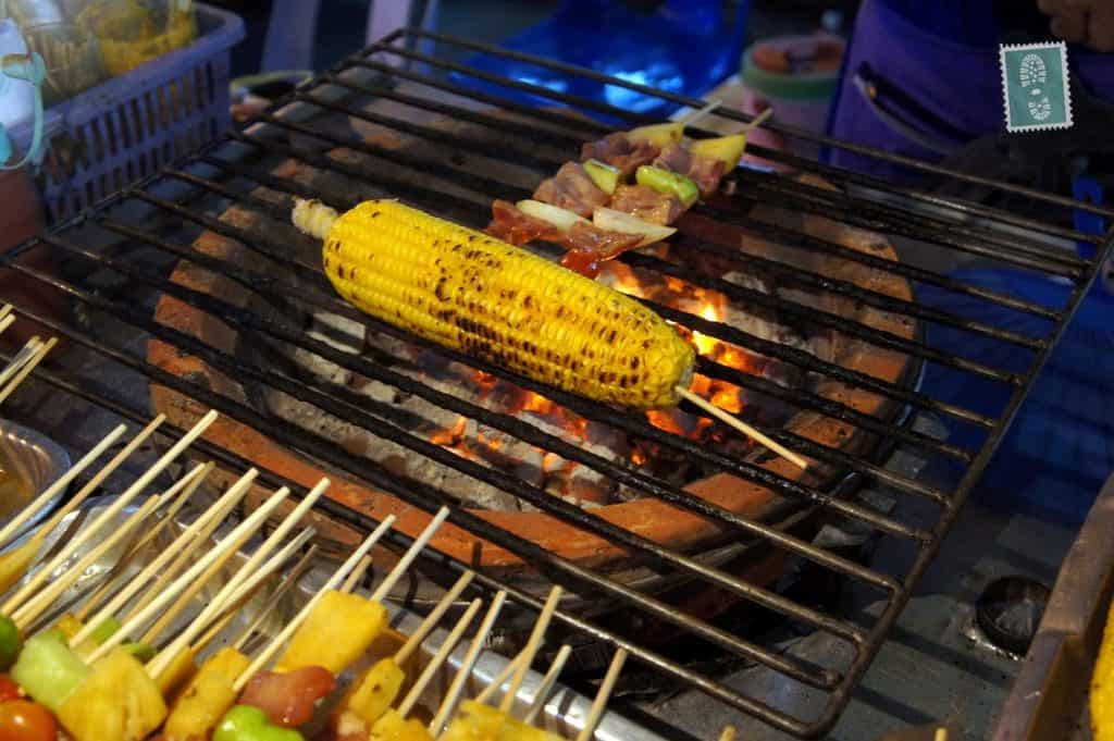 Grilled sweetcorn