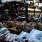 Hats, souvenirs on the market