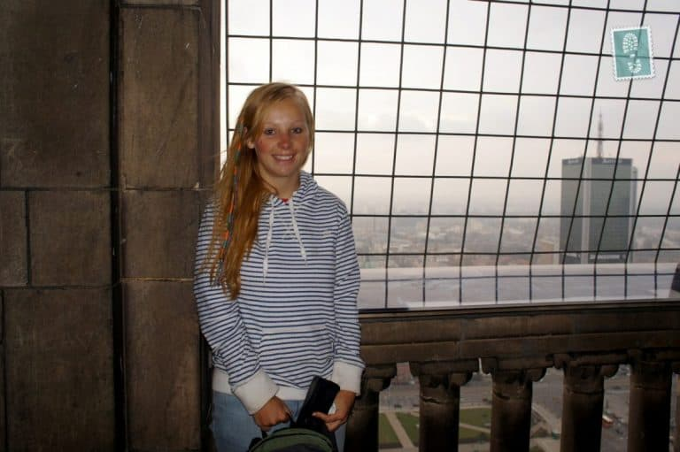 Me on the top of Palace of Culture and Science (Pałac Kultury i Nauki)