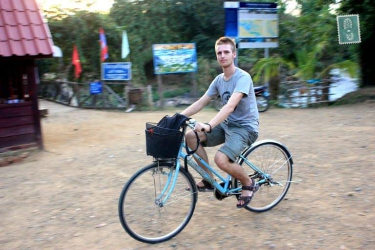 Riding a local bike