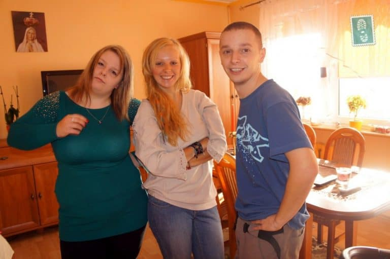 My younger sister named Dorota (on the left), me and my older brother named Dominik (on the right)
