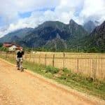 Cycling near Vang Vieng