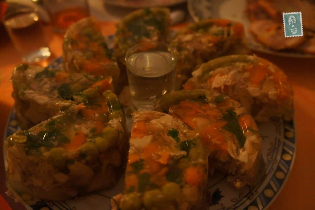 Polish galareta with vegetables