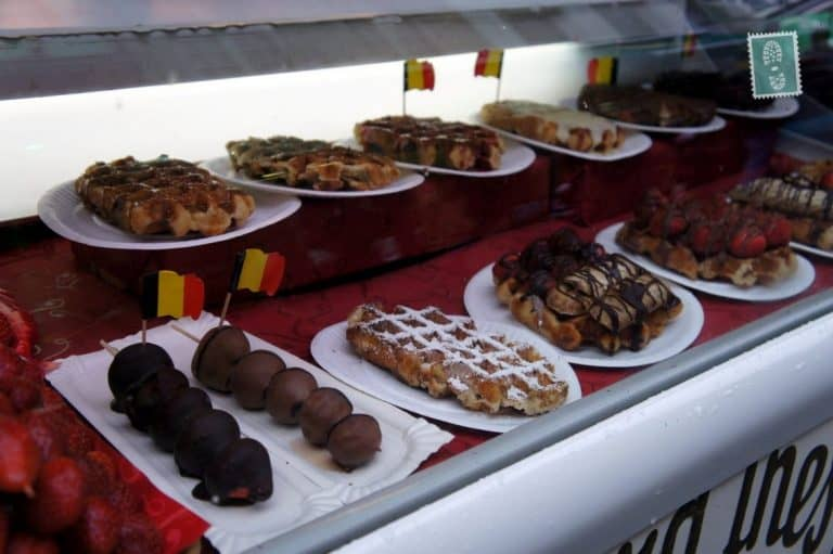 A great variety of Belgian waffles