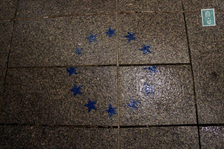 Stars on the ground European union stars