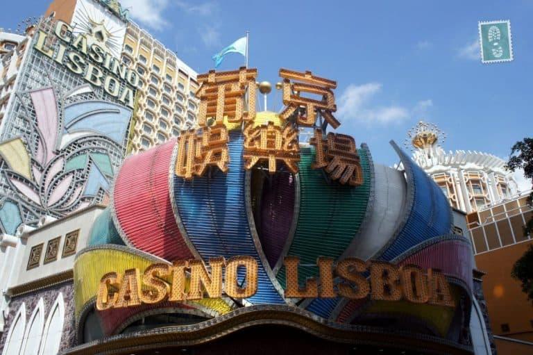 One of the casinos Casino Lisboa in Macau
