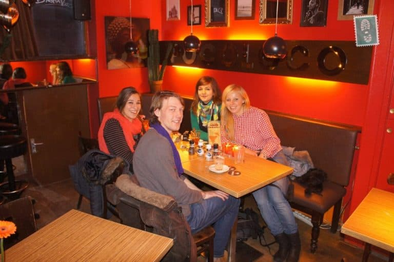 My host and fellow couchsurfers in Amsterdam