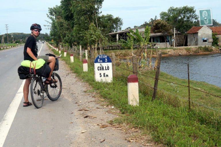 A boy on a bike in Vietnam