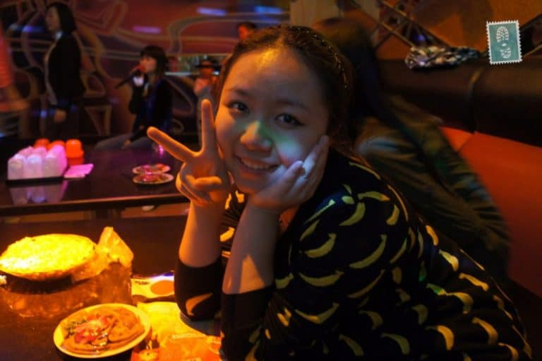 a chinese girl smiling