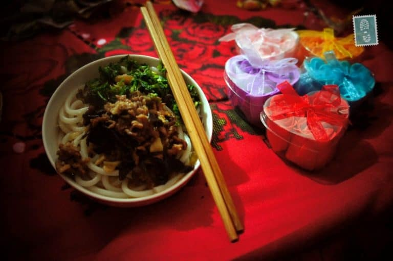 One of my breakfast treats in Huayuan, Hunan province - beef noodle soup with parsley