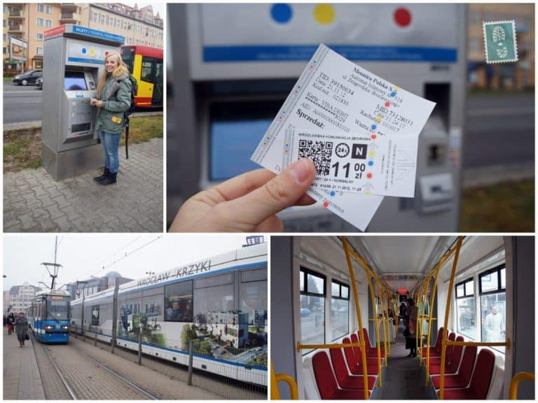 Wroclaw streetcar, ticket and ticket machine
