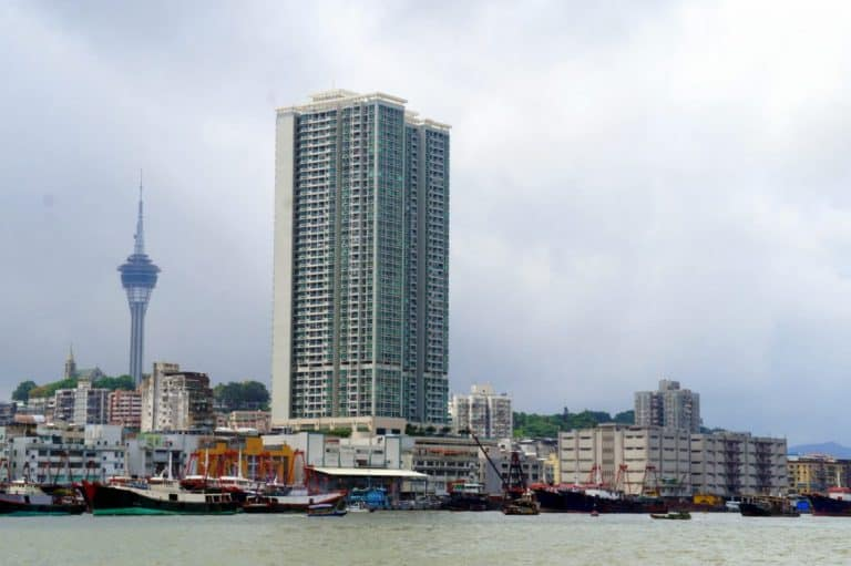 Macau from the ferry