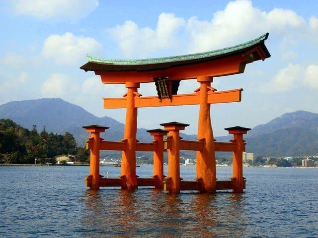 Miyajima's famous floating torii