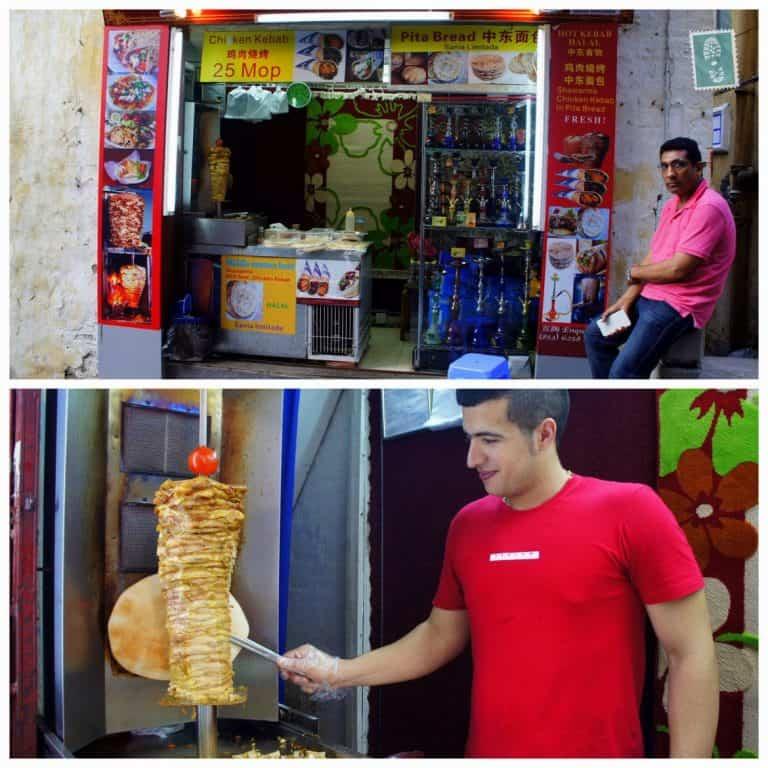 Local kebab stand, Macau, China