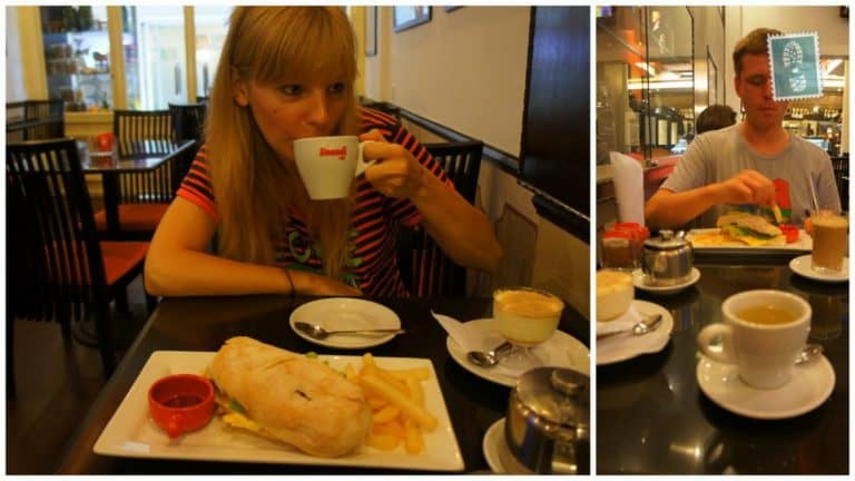 Our breakfast at Cafe Ou Mun