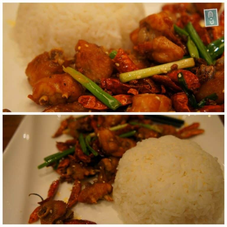 Diced Chicken with Hemp Pepper Rice at Cafe E.S.Kimo
