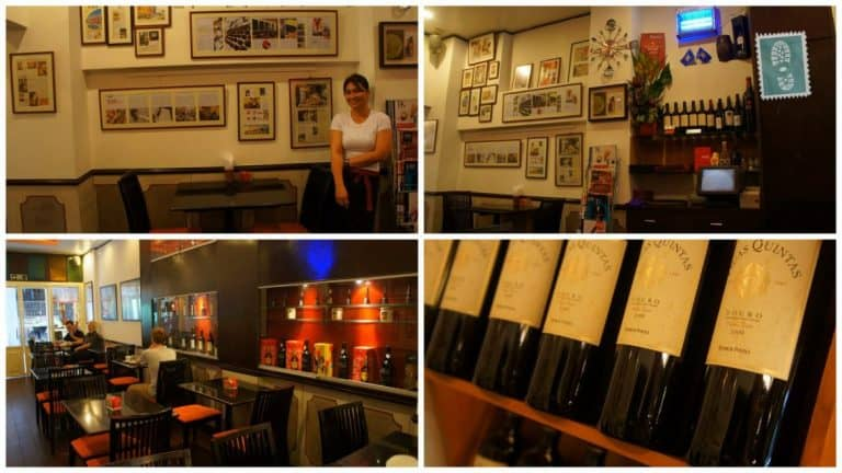 Wine at Cafe Ou Mun, Macau, China