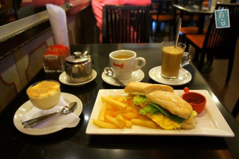 Portuguese breakfast at Cafe Ou Mun, Macau, China