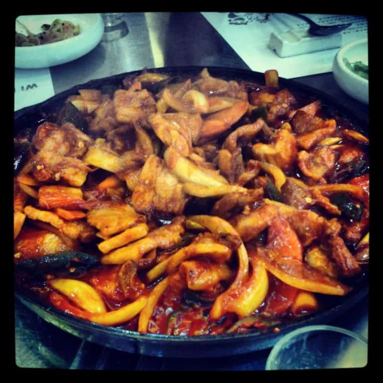 A plate of Korean Bulgogi