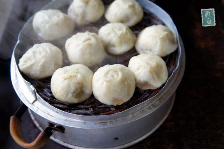 Chinese steamed baozi