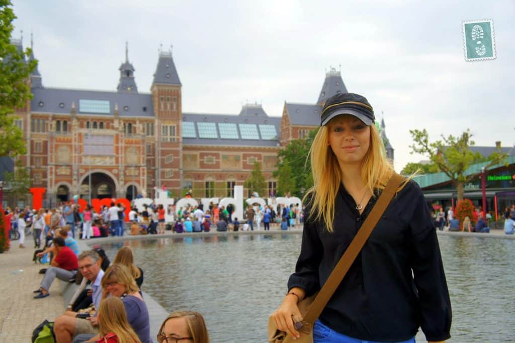 A girl in Amsterdam