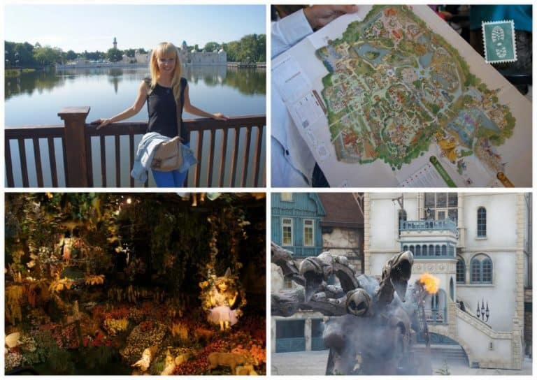 A girl is having fun in Efteling, Holland