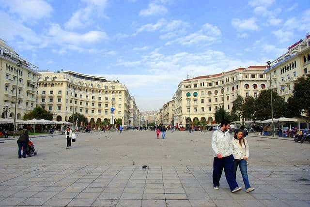 Aristotelous Square is one of the main squares of Thessaloniki