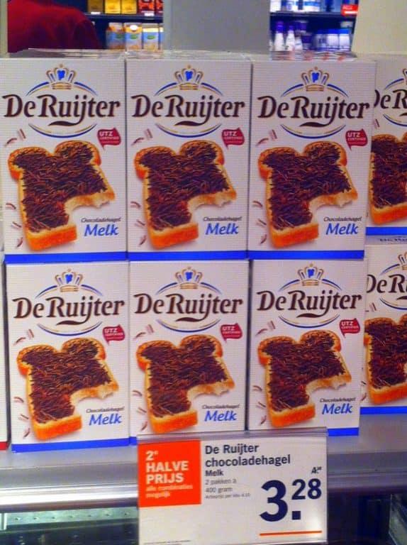 famous Dutch chocolate sprinkle