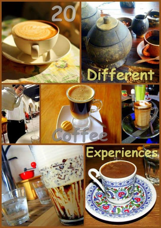 20 different coffee experiences cover