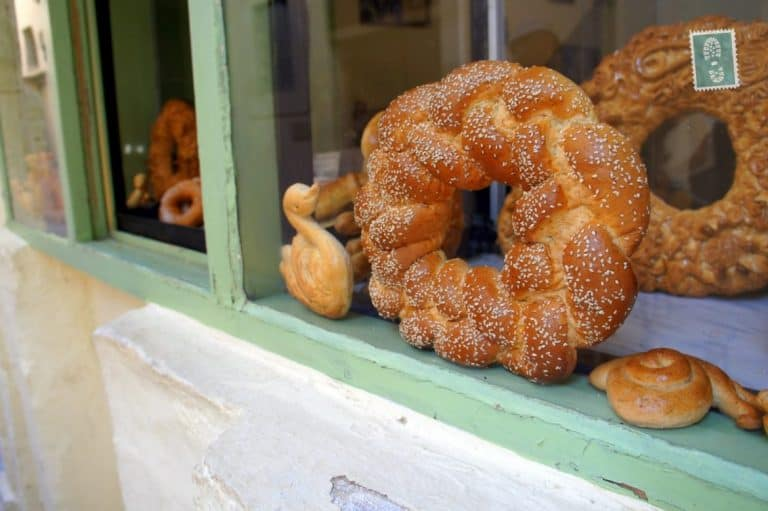 Freshly baked bread in Rethymno