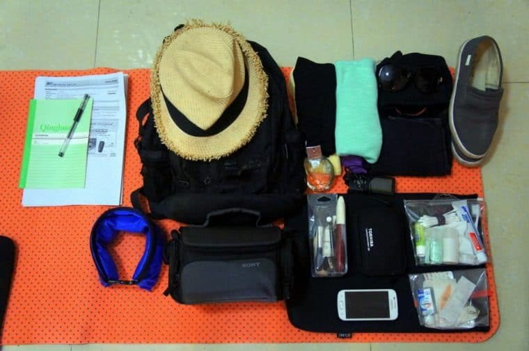 Things to pack for a month of journey