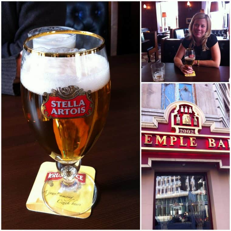 Stella beer in Moscow