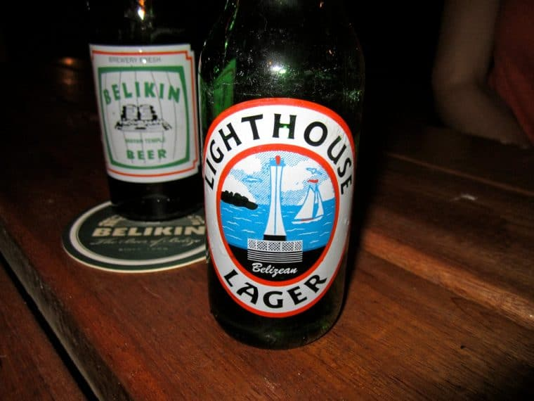 Lighthouse Lager in Belize