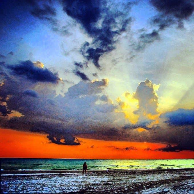 sunset at Fort DeSoto