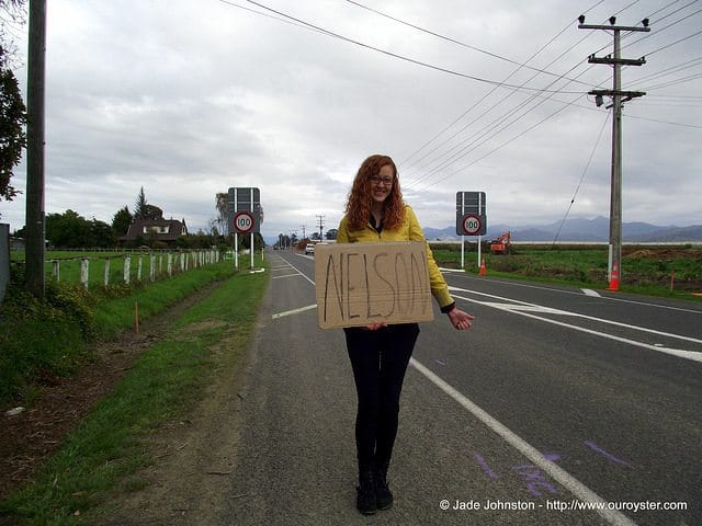 hitchhiking to nelson