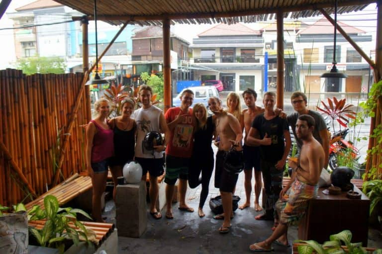 A group of travelers in Bali