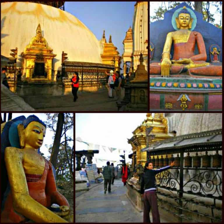 The Monkey Temple and Stupa
