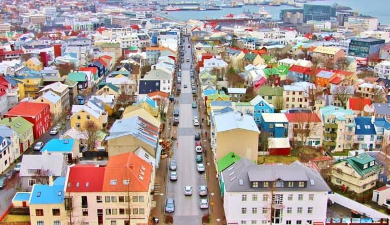 Panoramic reykjavik