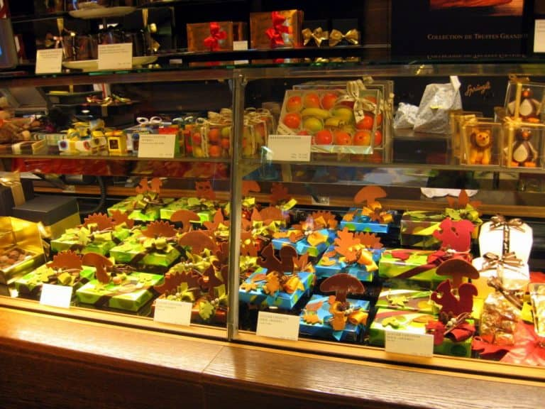 Cutline Some of the colorful chocolate offerings at Confiserie Sprungli in Zurich, Switzerland.