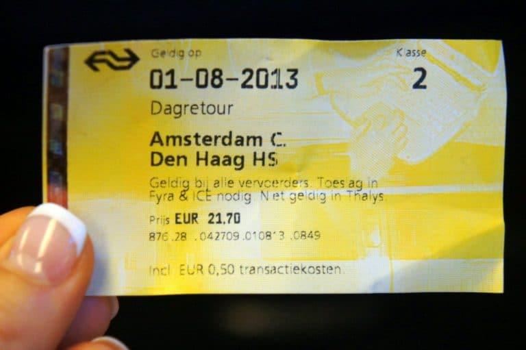 Amsterdam Den Haag ticket