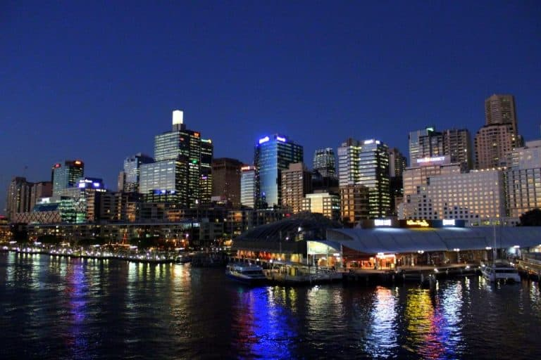 Sunset at Darling Harbour