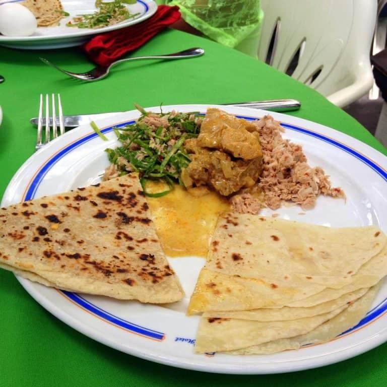 A typical Maldivian breakfast
