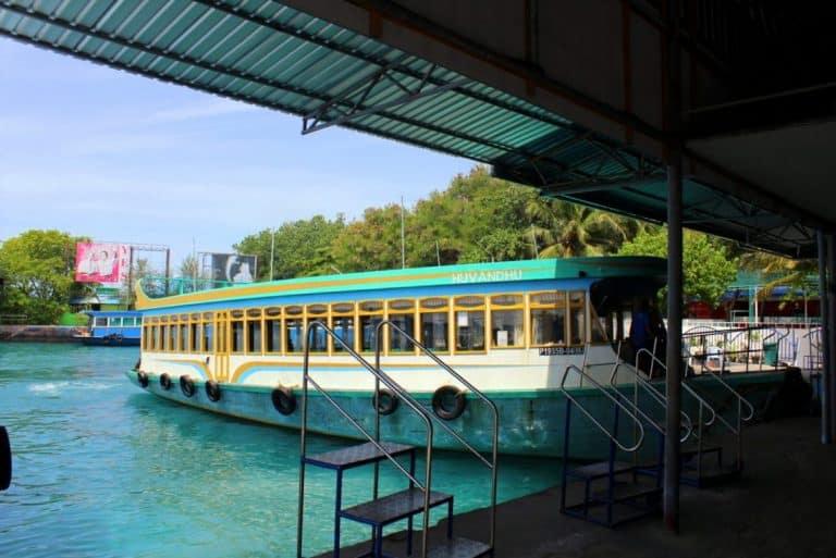 The ferry terminal on Villingili