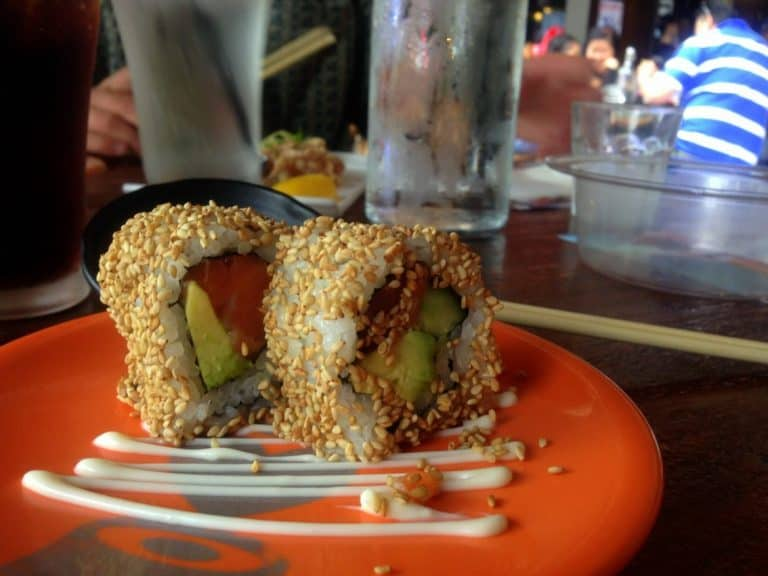 Dine in at Umi Sushi (or take away to save money)