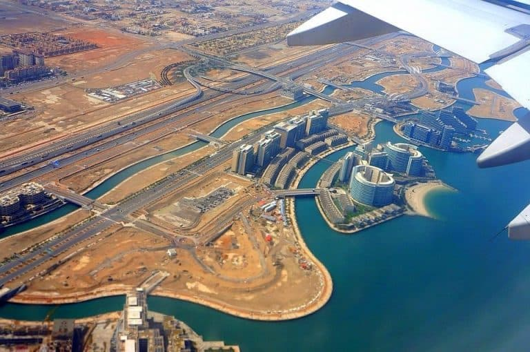 View of Abu Dhabi from above
