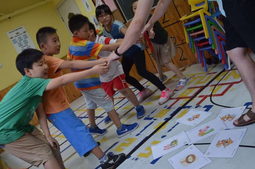 Playing with kids