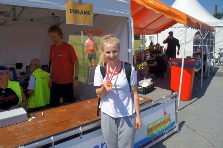 medal after a 5K run in amersfoort