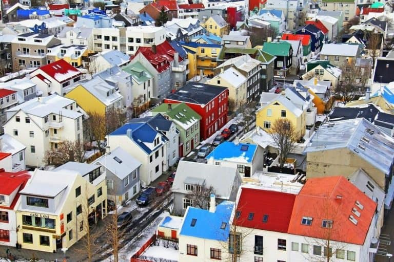 The top view of Reykjavik.